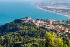 Sirolo, vista aérea Fotos de Stock Royalty Free