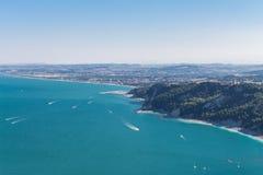 Sirolo, vista aerea Fotografia Stock