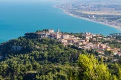 Sirolo, vista aerea Fotografie Stock Libere da Diritti