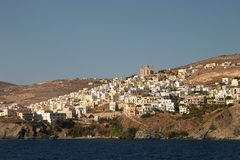 Siros, Greece. Cyclades, Siros island, Greece, white hoeses Stock Photography