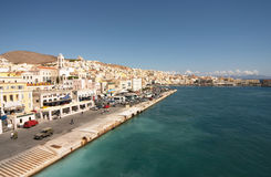 Siros, Greece. Cyklades, port of Siros island, Greece Stock Images