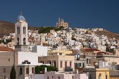 Siros, Greece. Cyclades, Siros island, Greece, white hoeses Royalty Free Stock Image