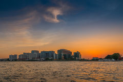 Sirraj Hospital across Chao Phraya River Stock Photos