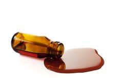 Sirup-Flasche lizenzfreie stockbilder