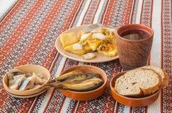 Sirva al Lithuanian, polaco, patata bielorrusa de los Rhombus de la cocina Imagenes de archivo