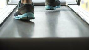 Sirva caminar y el funcionamiento en la rueda de ardilla en el gimnasio, la motivación y las metas, deporte almacen de video