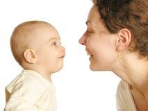 Sirva de madre con el bebé 3 Fotografía de archivo