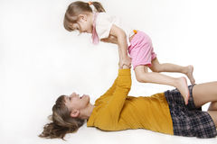 Sirva de madre y la hija Fotos de archivo libres de regalías