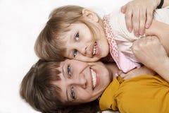 Sirva de madre y la hija Imagenes de archivo