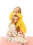 Sirva de madre y su hija Imagen de archivo libre de regalías