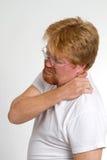 Sirva el dolor del hombro Imágenes de archivo libres de regalías