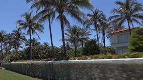Sirva el funcionamiento a lo largo de la cantidad aérea de la costa de la playa de Hollywood, la Florida almacen de metraje de vídeo