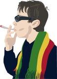 Sirva fumar un igarette del ¡de Ð Foto de archivo libre de regalías