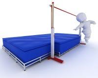 Sirva la competición en el salto de altura stock de ilustración