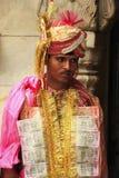 Sirva la participación en ceremonia de boda en Karni Mata Temple, Deshno Fotos de archivo libres de regalías