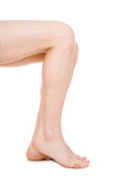 Sirva las piernas aisladas Imagen de archivo libre de regalías