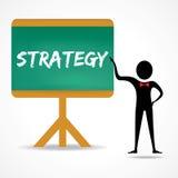 Sirva los puntos a la palabra de la estrategia en tablero verde Foto de archivo libre de regalías