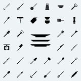sirve el icono El sistema detallado de la cocina equipa iconos Muestra superior del diseño gráfico de la calidad Uno de los icono ilustración del vector