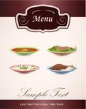 Sirve el menú del restaurante Imagen de archivo