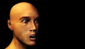 Sirve la cara dada una sacudida eléctrica Imagen de archivo