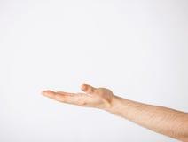 Sirve la mano que muestra algo Fotografía de archivo libre de regalías