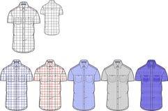 Sirve la pequeña plantilla del diseño de la camisa del control de la manga corta imágenes de archivo libres de regalías