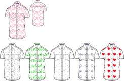 Sirve la plantilla impresa casual del diseño de la camisa del ajustado fotografía de archivo