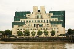 SiS budynek przy Vauxhall krzyżem, Londyn Zdjęcia Royalty Free