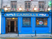 Carroll`s Traditional Irish Pub Dominick Street Galway Ireland Royalty Free Stock Image