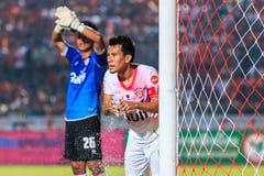 SISAKET ΤΑΪΛΑΝΔΗ 7 ΜΑΡΤΊΟΥ: Yutthapong Srilakorn Saraburi FC wa στοκ φωτογραφία με δικαίωμα ελεύθερης χρήσης