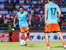 SISAKET ТАИЛАНД 13-ОЕ АВГУСТА: Somsak Wongyai Sisaket FC Стоковое Изображение RF