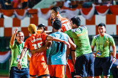 SISAKET ТАИЛАНД 3-ЬЕ АВГУСТА: Sarayuth Chaikamdee Sisaket FC Стоковое Изображение