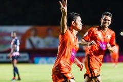 SISAKET ТАИЛАНД 3-ЬЕ АВГУСТА: Sarayuth Chaikamdee Sisaket FC Стоковое Изображение RF