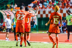 SISAKET ТАИЛАНД 3-ЬЕ АВГУСТА: Sarayuth Chaikamdee Sisaket FC Стоковое фото RF