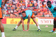 SISAKET TAILÂNDIA 15 de outubro: Brent McGrath de Sisaket FC Imagens de Stock