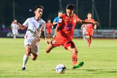 SISAKET TAILÂNDIA 4 DE ABRIL: Kittipong Wongma de Sisaket FC (orangotango Foto de Stock