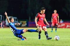 SISAKET TAILÂNDIA 12 DE AGOSTO: Khapfa Boonmatoon de Sisaket FC (cr Fotos de Stock