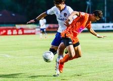 SISAKET TAILÂNDIA 23 DE JULHO: Santirat Viang-de Sisaket FC Imagens de Stock Royalty Free
