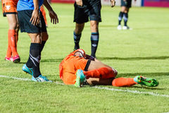SISAKET TAILÂNDIA 21 DE MAIO: Santirat Viang-de Sisaket FC (orangotango Imagem de Stock Royalty Free