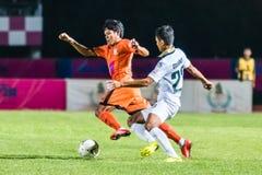 SISAKET TAILÂNDIA 29 DE OUTUBRO: Alongkorn Pratoomwong de Sisaket FC Foto de Stock