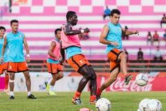 SISAKET TAILÂNDIA 29 DE OUTUBRO: Gorka Unda de Sisaket FC Fotos de Stock Royalty Free