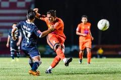 SISAKET TAILÂNDIA 21 de setembro: David Bala de Sisaket FC Imagem de Stock