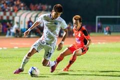 SISAKET TAILANDIA 4 DE ABRIL: Lee Ho del puerto FC (blanco) en la acción du Fotos de archivo