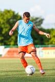 SISAKET TAILANDIA 6 DE JULIO: Santirat Viang-en de Sisaket FC Fotos de archivo libres de regalías