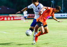 SISAKET TAILANDIA 23 DE JULIO: Santirat Viang-en de Sisaket FC Imágenes de archivo libres de regalías