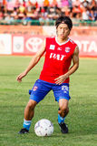 SISAKET TAILANDIA 21 DE JUNIO: Hironori Saruta de Singhtarua FC Fotografía de archivo libre de regalías