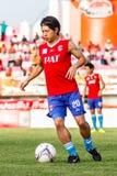 SISAKET TAILANDIA 21 DE JUNIO: Hironori Saruta de Singhtarua FC Foto de archivo