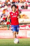 SISAKET TAILANDIA 21 DE JUNIO: Hironori Saruta de Singhtarua FC Foto de archivo libre de regalías