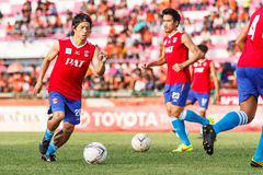 SISAKET TAILANDIA 21 DE JUNIO: Hironori Saruta de Singhtarua FC Fotografía de archivo