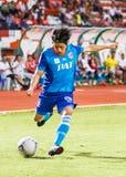 SISAKET TAILANDIA 21 DE JUNIO: Hironori Saruta de Singhtarua FC Imagenes de archivo